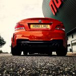 BMW 1M hybrid turbo custom exhaust